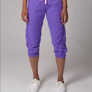 Iviva lululemon Purple Live to Move Crop Pants
